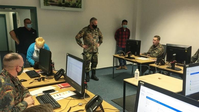Bundeswehr im Corona-Einsatz in Naumburg