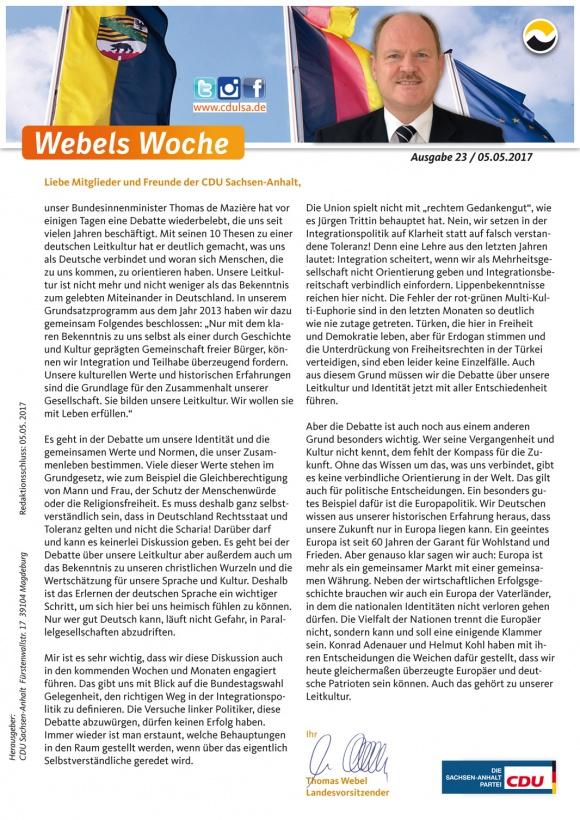Webels Woche 05 05 2017