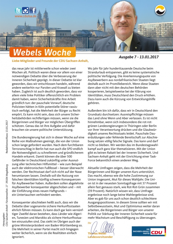Webels Woche 13 01 2017