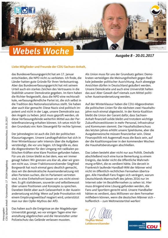 Webels Woche 20 01 2017