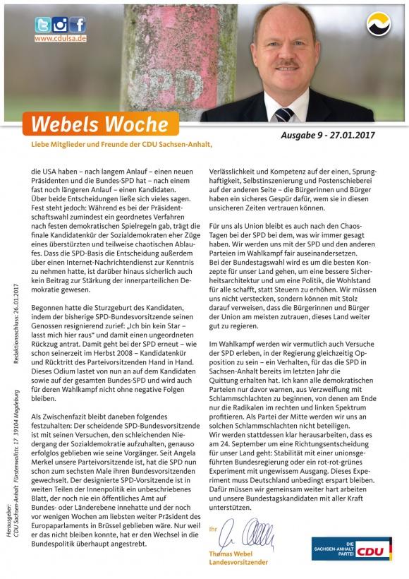 Webels Woche 27 01 2017